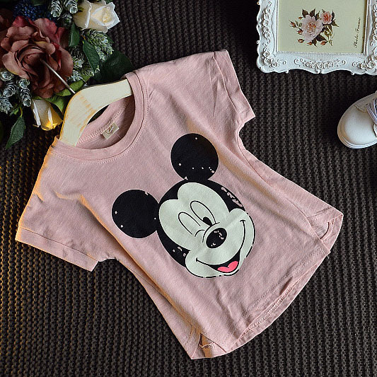 2-7 yre cotton spring new 2016 kids children summer baby girls cartoon cute sports fashion loose cozy next short sleeve t-shirt