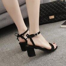 qishimengjing 2019 Ankle Strap Heels Women Sandals Summer Shoes Women Open Toe Chunky High Heels Party Dress Sandals недорого