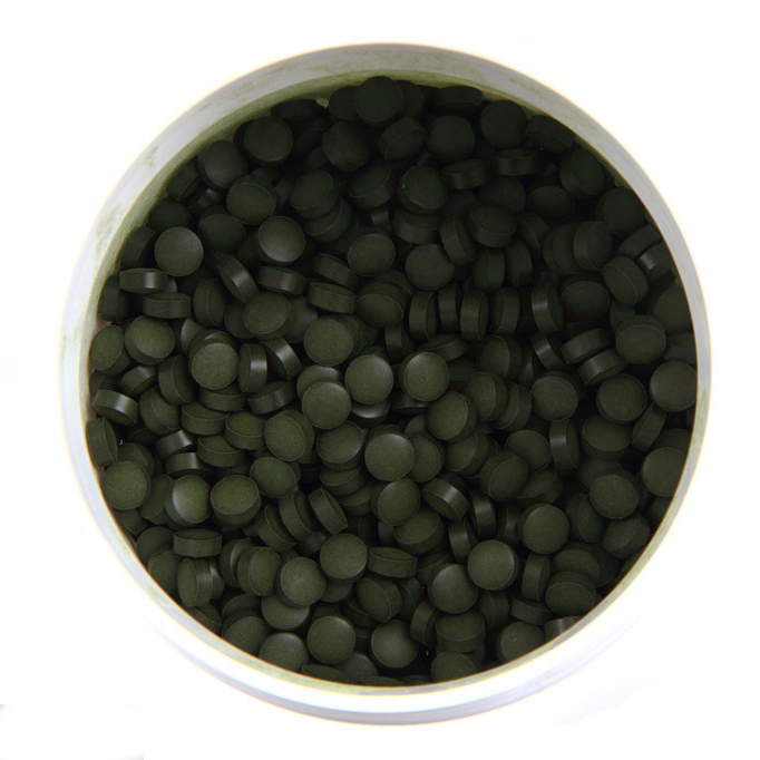 3000pcs Organic Chlorella Vulgaris Chlorella Pyrenoidosa Tablet Broken High Quality Rich of Chlorophyll,Protein light dependent chlorophyll biosynthesis