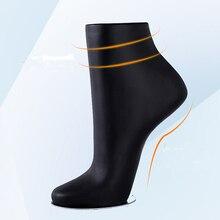 New 1 Pc Female Mannequin Feet Plastic Stand Display Silk Socks Short Socks Part Dummy Torso Leg Black Foot Model With Magnet