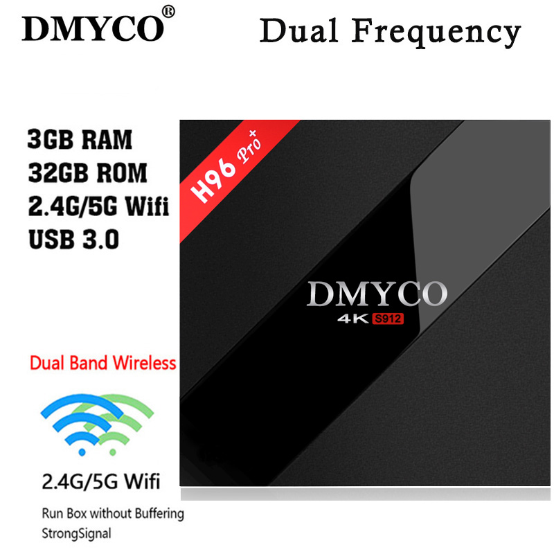 DMYCO New H96 Pro+ 3GB/32GB S912 Android 7.1 TV BOX HD Smart tv+1 Year europe server 1000+ iptv Channels Italy French Germany best hd 1 year arabic europe french iptv italy belgium 1300 live channels av cable for tv box android 7 1 smart tv box s912 box