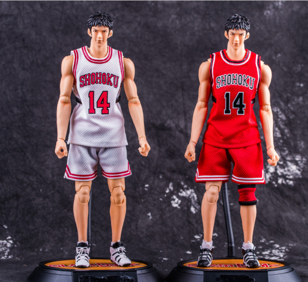 anime SLAM DUNK Mitsui Hisashi action figure Number 14 ball suit figure model toy pvc classic collection doll garage kit 34cm anime slam dunk akagi takenori action figure pvc classic collection toy model garage kit doll