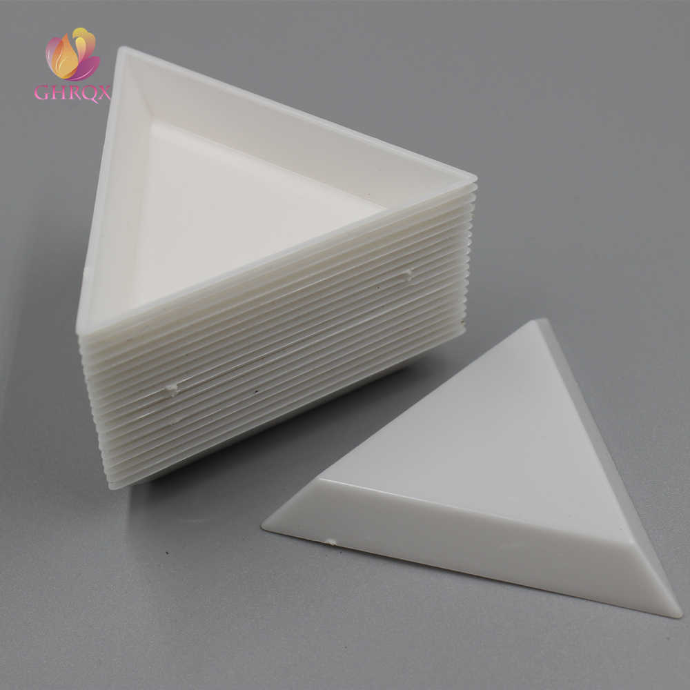 7cm Triangle Bend type Plastic box Transparent rectangle removable plastic jewelry box  Wholesale