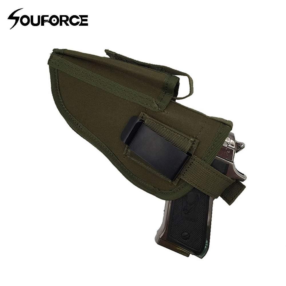 3 Colors EDC Right Left Interchangeable Tactical Pistol Hand Gun Holster Molle Pistol Holster Magazine Slot Holder Hunting