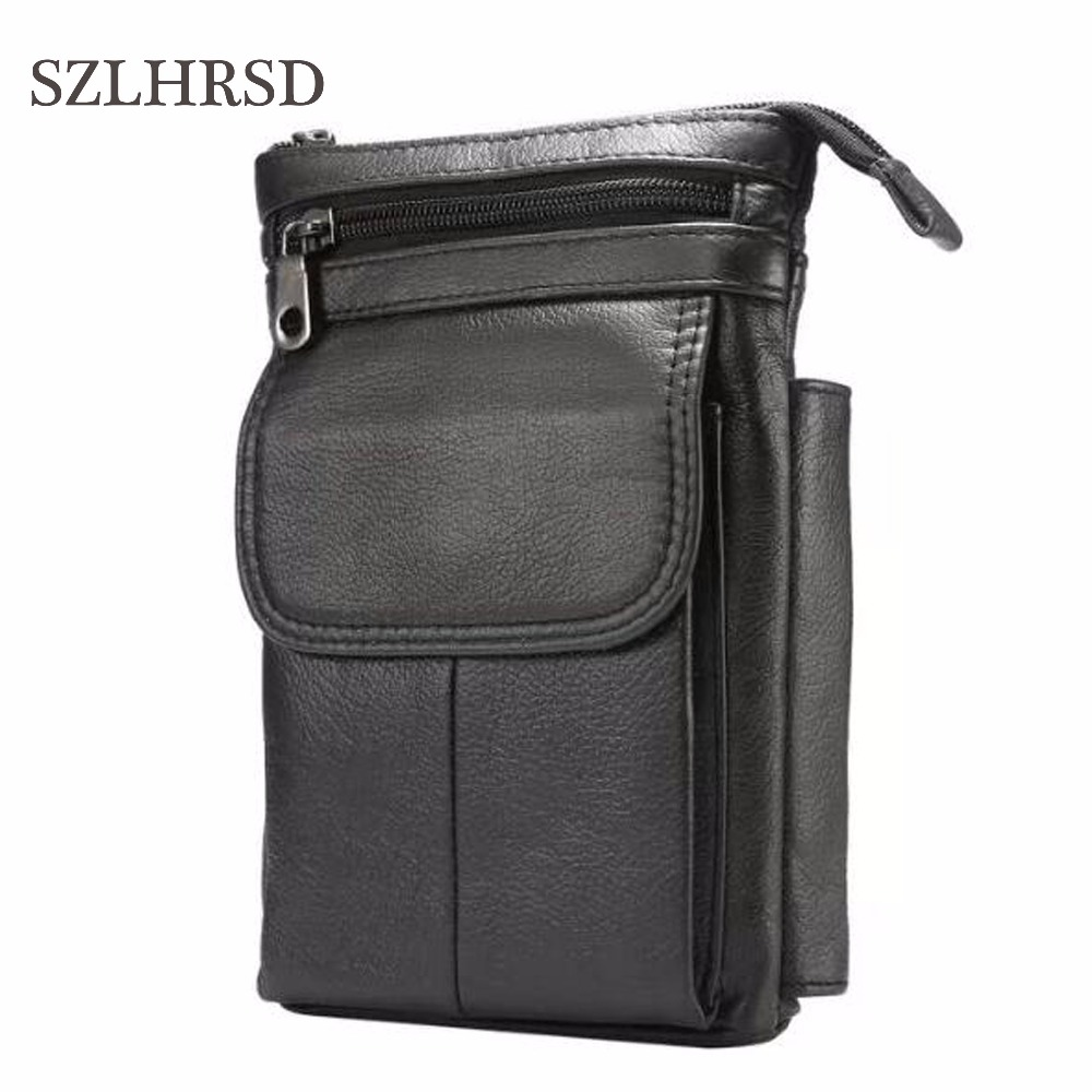 Cell Phone Case Genuine Leather zipper pouch Belt Clip Waist Purse cases Cover for AGM X2 A2 Rio X1 A8 SE A8 Mini A7 A8 A1Q X3