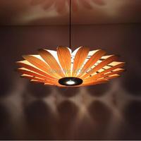 2015New Livraison Gratuite Creative LED En Bois Écorce De Tournesol Pédant Lumière Salon/Home Suspension Lampe PLL-438
