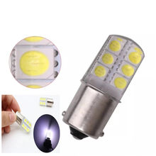 10X1156 BA15S 1157 BAY15D P21/5 W 2 W 2835 SMD 12 LED voiture blanc rouge jaune clignotant lampe coin Silicone ampoule Parking(China)