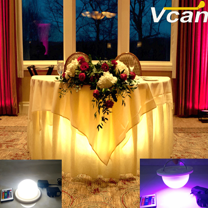 NEW DHL 2PCS best quality waterproof led light lamp for led furniture Super bright under table lighting for weddings dhl free ship wireless rechargeable rgb led lighting system waterproof for furniture bulb lite led under table light