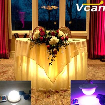 NOWY DHL 2 SZTUK najwyższej jakości wodoodporna lampa led światła do led meble Super jasne oświetlenie w tabeli na wesela