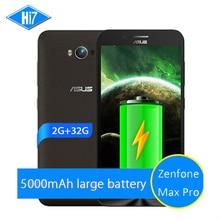 NEW Original ASUS Zenfone Max Pro 5000mAh 2GB RAM 32GB ROM 4G LTE 5.5'' Snapdragon MSM8916 Android 5.0 Quad Core Mobile phone