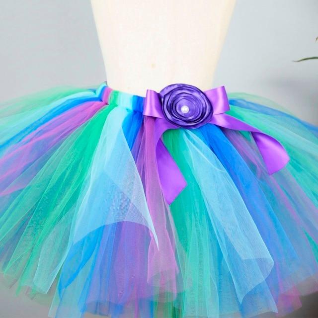 Girls Blue/Green/Purple Fluffy Tutu Skirt Baby Birthday Party Tulle Skirt Kids Ballet Skirt School Skirt Halloween Costume 0-12Y
