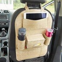 Car styling Accessories Snake print leather Car Organizers back seat storage bag pocket Hanging Organizer bag stuff car supplies