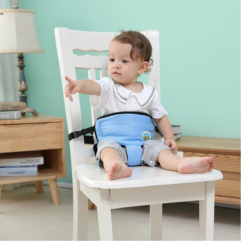 Baby Portable Seat Kids Chair Travel Washable Infant High Dining Cover Seat Safety Belt Feeding High Chair