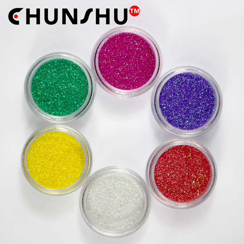 1 Set Of 6pc Nail Glitter Powder Ab Effect Thin Colored Powdered Sugar Sequins Art Chrome Dust Charm Decoration Manicure In From Beauty