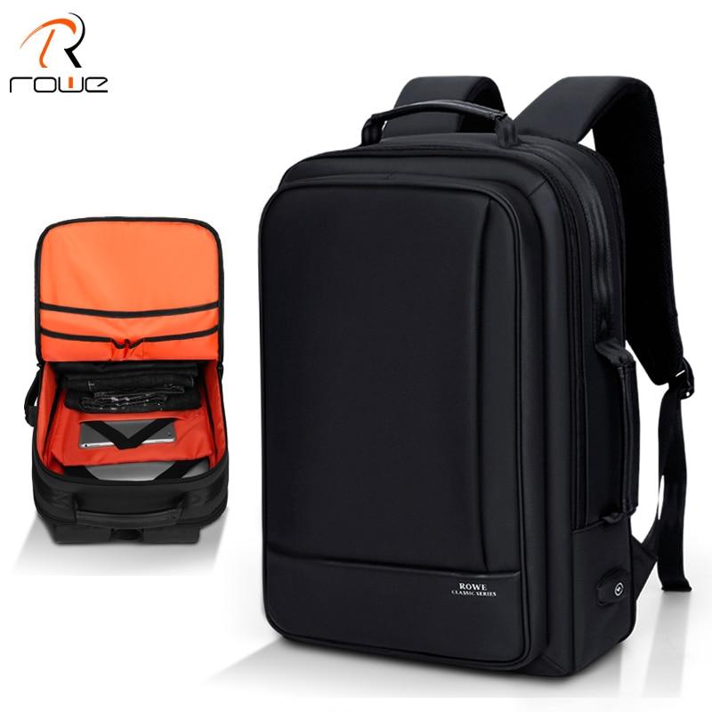 ROWE Multifunction Business 15inch Laptop Backpack Men Travel College Student Bag High Capacity Backpack Waterproof Male
