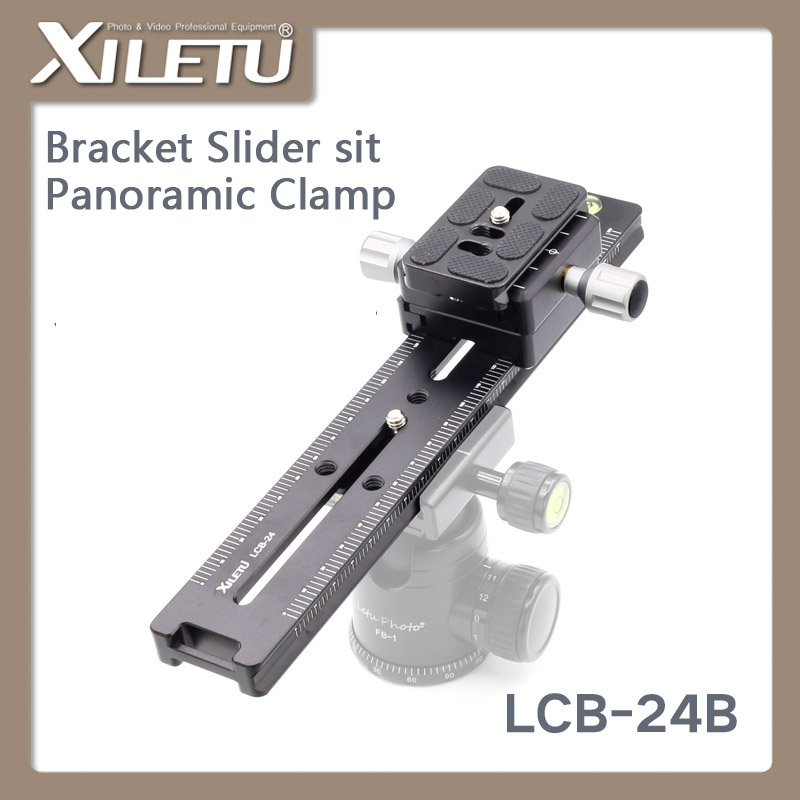 XILETU LCB 24B Lengthened Quick Release Plate Kit 240mm Nodal Slide Tripod Rail Multifunctional Universal Track Dolly Slider in Tripod Monopods from Consumer Electronics