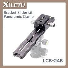 лучшая цена XILETU LCB-24B Lengthened Quick Release Plate Kit 240mm Nodal Slide Tripod Rail Multifunctional Universal Track Dolly Slider