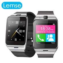 Lemse gv18 smartwatch bluetooth smart watch tragbare geräte für android ios telefon unterstützung sim sms pk dz09 gt08