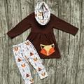 Comercio al por mayor OTOÑO TRAJES persnickety niñas 3 unidades juegos niñas bebés ropa para niños boutique 3 unidades pantalón zorro zorro trajes