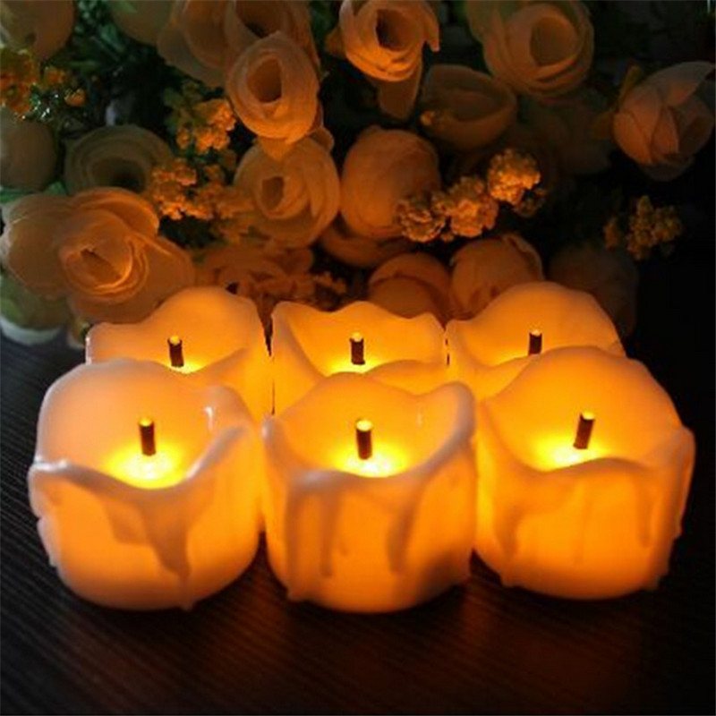 12pcs Flicker Battery Candle night light Electric Candles Flameless Tea Lights For Christmas Halloween Wedding lamp Decoration