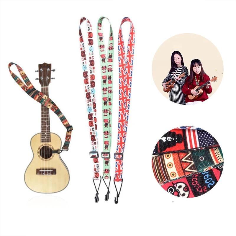 verstellbare Ukulele Strap Sling mit Haken für Ukkulele Gitarre Zubehör