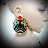 YCE 1 Mirror Acrylic Laser Egypt Style Fabulous Snake Stud Earrings