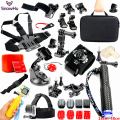 Gopro Accessories Set Helmet Harness Chest Belt Head Mount Strap Monopod For Go pro Hero 5 4 3+2 xiaomi yi action camera GS25