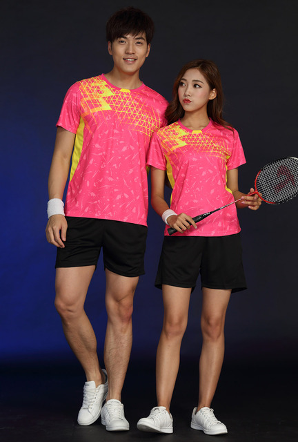Free Printing Name Tennis wear shirt Women/Men's , sports Badminton shirts , Table Tennis tshirts, Quick dry sportswear 1835 4
