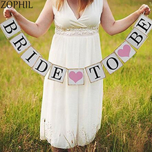 Bride to be Banner Rustic Wedding Decoration Mariage DIY Garland Just Married Hen party Bachelorette Bridal Shower Supplies Boda