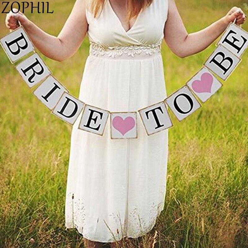 Novia a ser Banner rústico Boda decoración Mariage DIY Garland recién casados despedida de soltera suministros Boda
