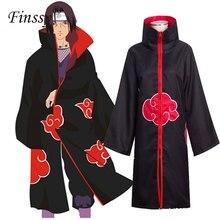 Наруто Акацуки Учиха Итачи полный косплей костюм для мужчин и женщин Orochimaru Uchiha madara Sasuke плащ халат накидка на Хэллоуин Карнавал
