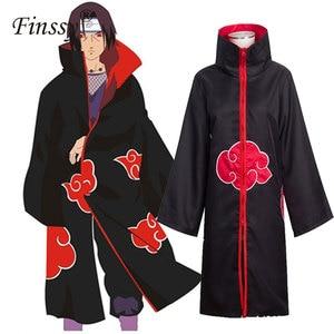 Naruto Akatsuki Uchiha Itachi full Cosplay Costume Men Women Orochimaru uchiha madara Sasuke Cloak Robe Cape Halloween Carnival(China)