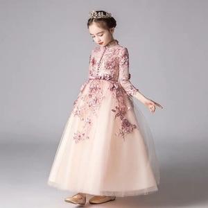 Image 3 - אביב יוקרה חדש אפליקציות עבודת יד פרחי בנות ילדי חתונה יום הולדת המפלגה טול שמלת ילד בני נוער מארח טוטו שמלת בגדים