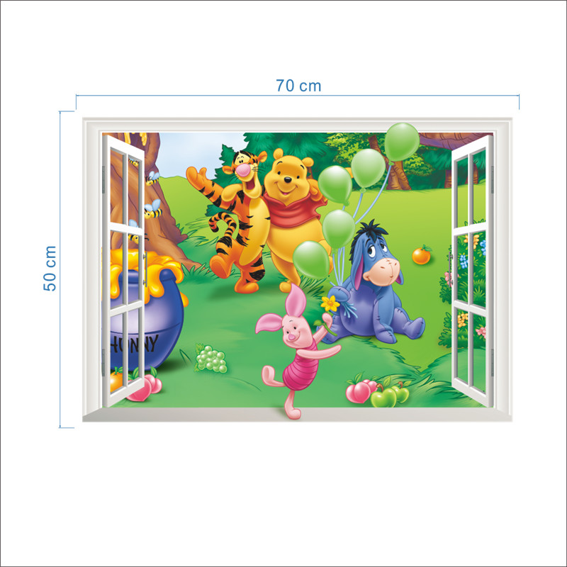 3d Baby Bear Cartoon DIY Wall Sticker For Kid Rooms-Free Shipping 3D Wall Stickers For Kids Rooms