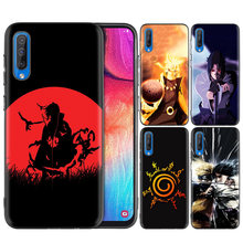 Black Silicone Case Bag Cover for Samsung Galaxy M10 M20 M30 S8 S9 S10 S10e 5G J3 J4 J5 J8 Plus 2018 S7 Edge Anime Naruto(China)