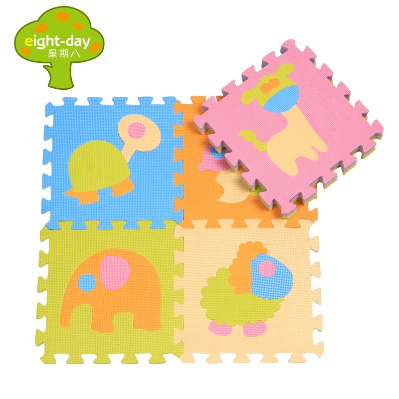 Cartoon Dierentuin EVA Foam Baby Speelgoed Puzzel Speelmat Grijpende - Speelgoed voor kinderen