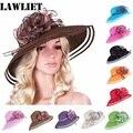 Новый стиль Женщины Платье Венчание Кентукки Дерби Широкими Полями Соломы Летний Пляж Hat для womenA115