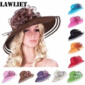 New style Women Dress Church Wedding Kentucky Derby Wide Brim Straw Summer Beach Hat for womenA115