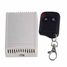 Preto e Branco 12 V 315 MHZ Canais 2 2 Teclas do Transmissor Interruptor de Controle Remoto