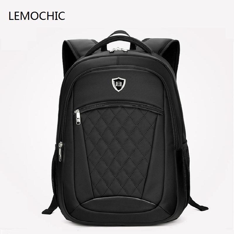 LEMOCHIC good quality simple oxford school bags business men loptop pocket travel shoulder bag hot selling waterproof backpack wholesale luxury professional protable trumpet bag 600d soft pocket case durable cover good quality backpack shoulder withstrap