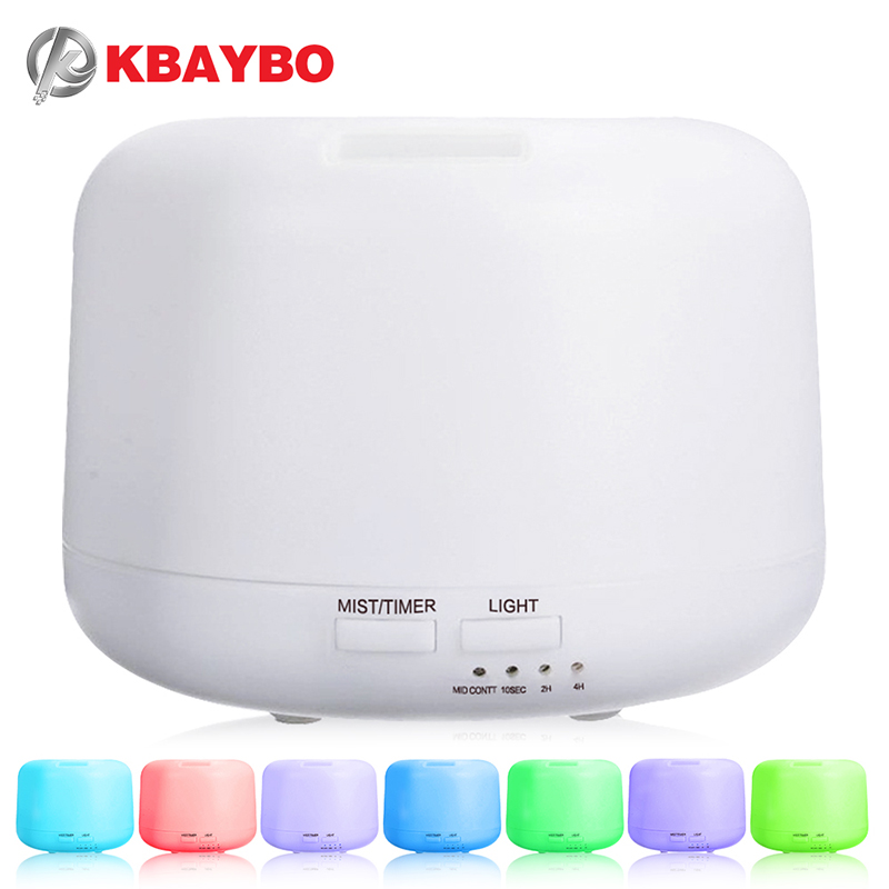 Ultrasonic Aromatherapy Humidifier Essential Oil Diffuser Air Purifier for Home Mist Maker Aroma Diffuser Fogger LED Light 300ML 1 5l 30w ultrasonic humidifier home aromatherapy air purifier atomizer with led night light mist maker essential oil diffuser