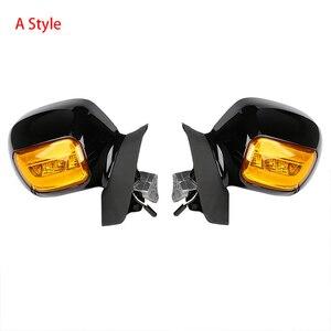 Image 2 - مرآة رؤية خلفية للدراجة النارية مع إشارة انعطاف لملحقات هوندا Goldwing GL1800 2001 2012 2011 2010