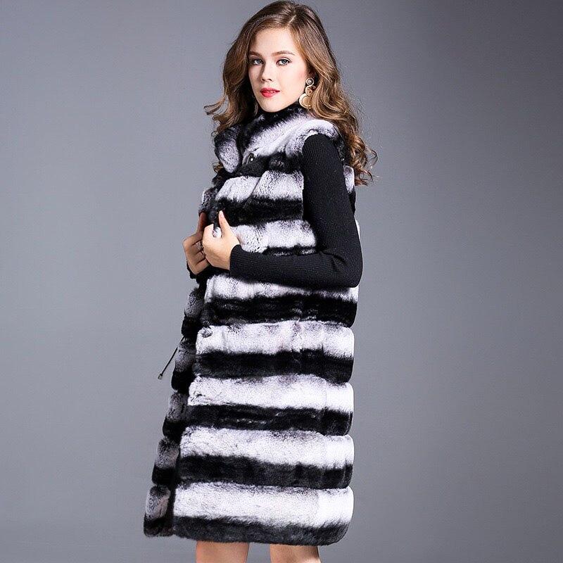 Femmes Fourrure Chinchilla Lapin Qualité D'hiver Rex 100 Haute Couleur Réel Chaude Naturel Manteau Vente Veste Véritable De 2018 pxwq0RAX6