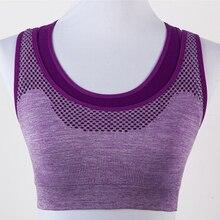 Sports bra fake two pieces running shockproof wireless Yoga sweat vest female underwear