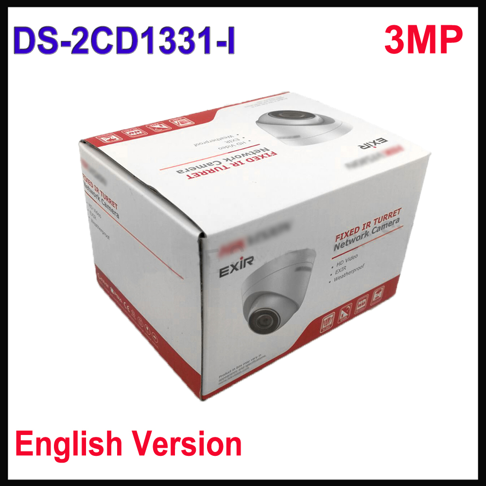English version Hik mini dome ip camera 1080P DS-2CD1331-I replace DS-2CD2335-I 3MP CCTV camera POE H.264+