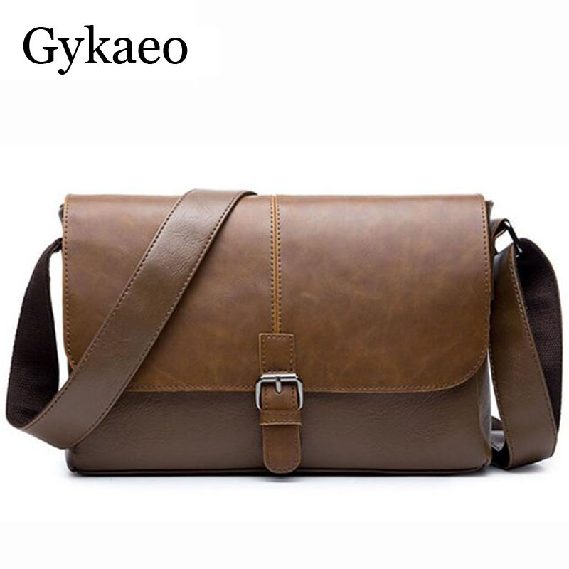Retro Mens Bags High Quality Leather Male Crossbody Bag Strap Small Business Flap Male Leather Messenger Bag Mens Shoulder Bag