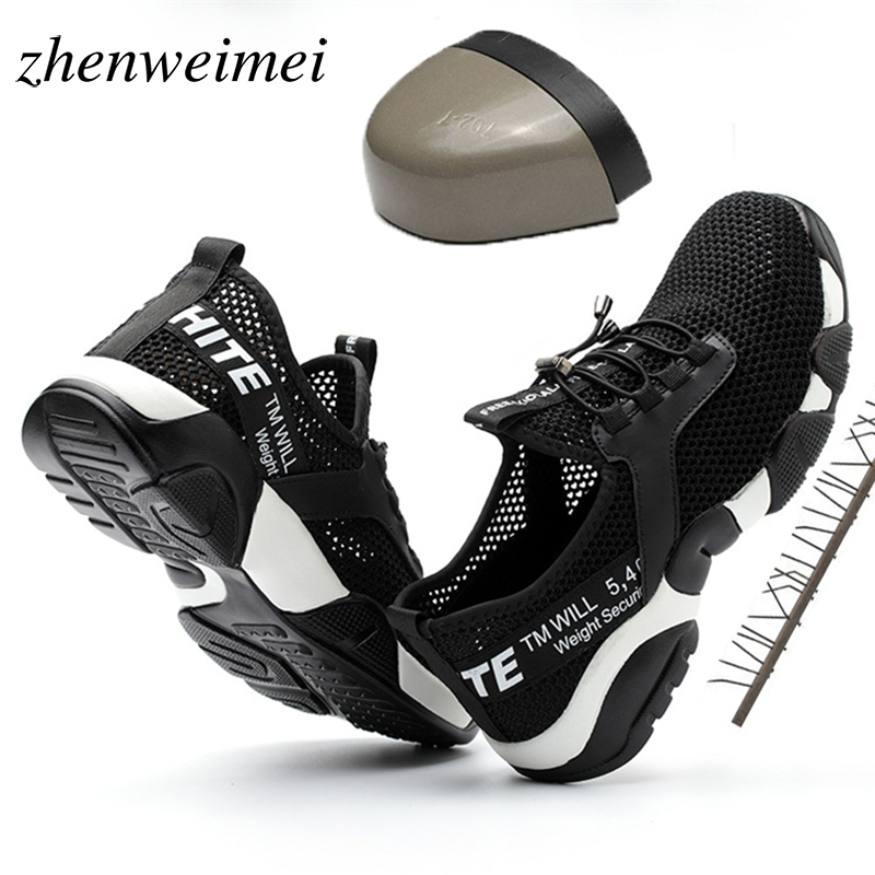 Breathable Reflective Casual Sneaker Prevent piercing Protective boots Steel Toe Work Safety Shoes Lightweight