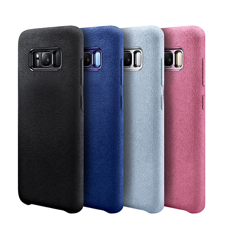 2018 Turn Fur material Design Leather Suede Case For Samsung Galaxy S8 Case Soft phone case For Samsung S8 Plus Back Cover Case