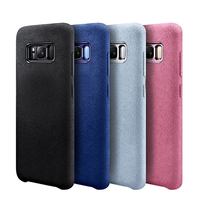 2018 Turn Fur Material Design Leather Suede Case For Samsung Galaxy S8 Case Soft Phone Case