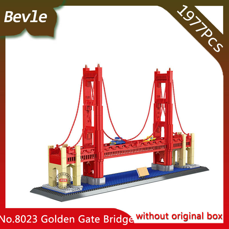 Doinbby Store  8023 1977Pcs Street View Series Golden Gate Bridge Model Building Blocks set Bricks Children For Toys Wange managing the store